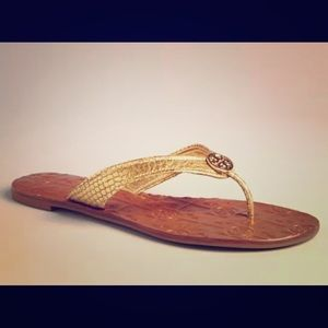 Tory Burch Thora Sandal Gold Snake